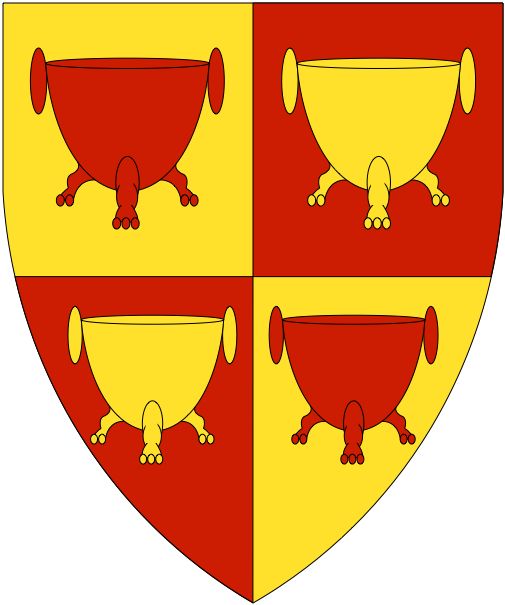 [Quarterly Or and gules, four cauldrons counterchanged    ]
