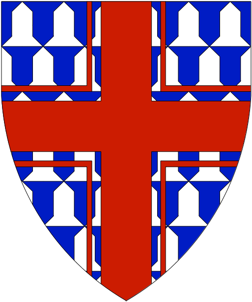 [Vair, a cross cotised gules.]