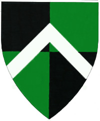 [Quarterly sable and vert, a chevron argent.	  ]