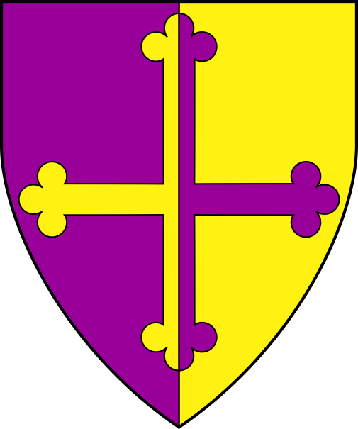 [Per pale purpure and Or, a cross botonny counterchanged  ]