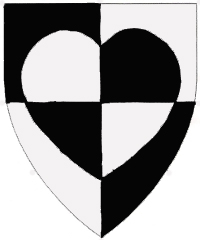 [Quarterly sable and argent, a heart counterchanged.    ]